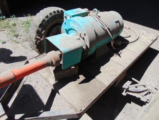 Onan Generator on Trailer PTO Model 25.0 UT3 25 KW