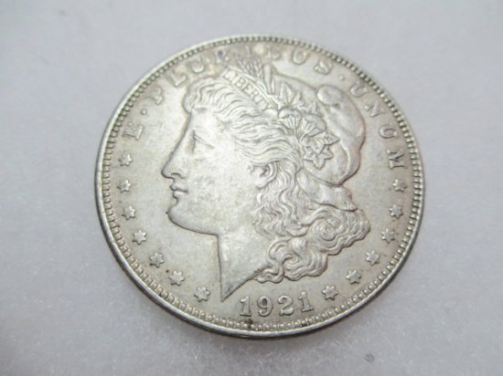 1921 Morgan Silver Dollar - con 1