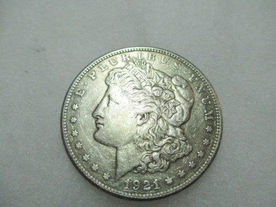 1921-S Morgan Silver Dollar - con 1