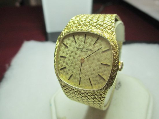 Favre-Leuba Geneve 17 Jewel Swiss Made Men's Watch - 18k Gold Band & Case - Approx 79 Grams  con 11