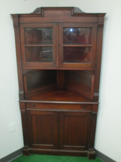1840-1860 Antique Cherry Corner Hutch -> Will not be Shipped! <- con 619