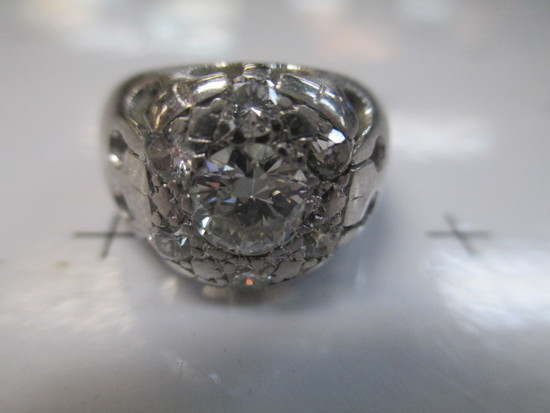 Women's Platinum and Diamond Wedding Ring - Very High Quality - Size 6.5 - 6.75 - con 668