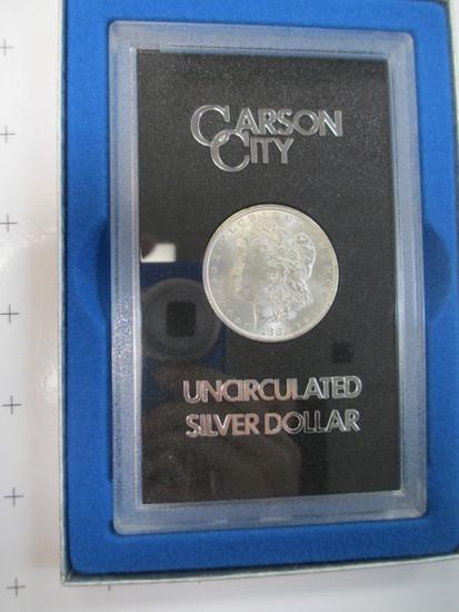 1882 Carson City Morgan Silver Dollar - UNC with COA - con 699