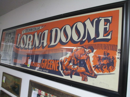 Lorna Doone Movie Poster - Framed - 86x28 - Will not be shipped - con 726