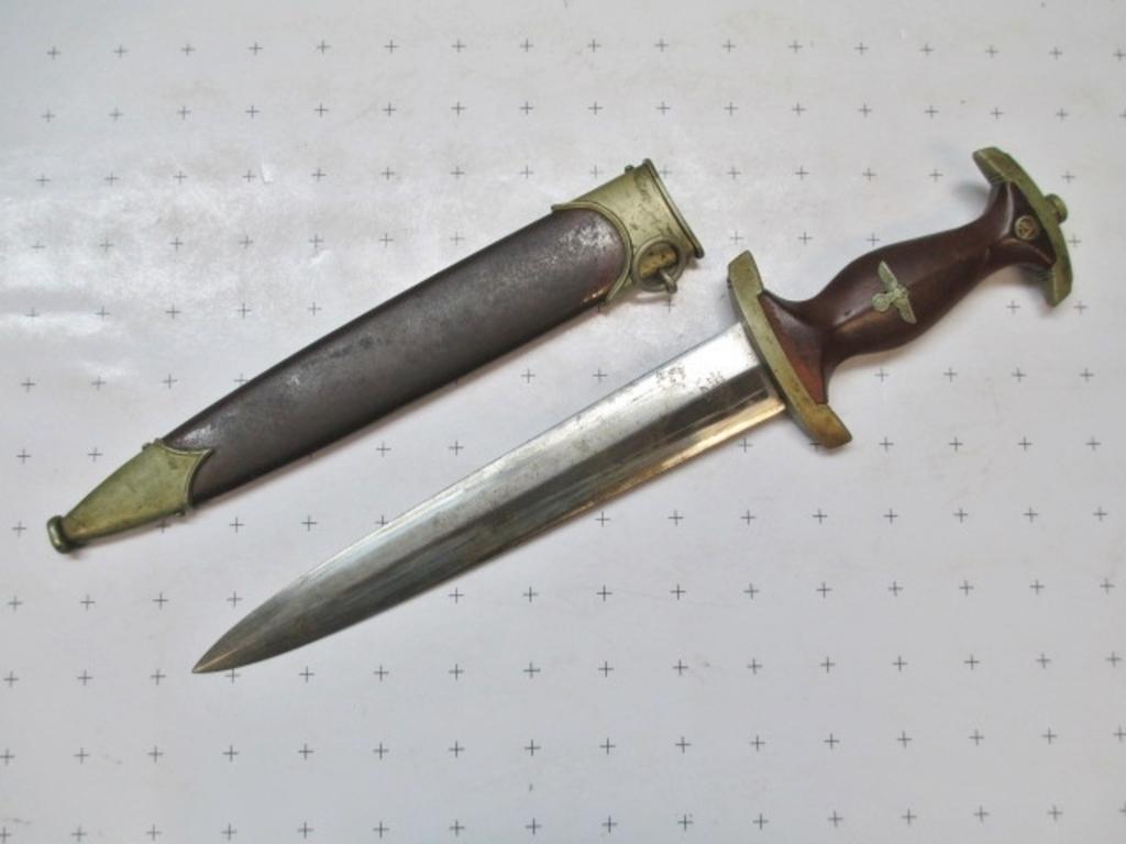 "WWII Era German Dagger - Inscribed ""Merry Christmas 1935"" - 14"" - con 748"