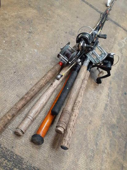 6 Saltwater and Freshwater rods and reels- - Will not be shipped - con 793