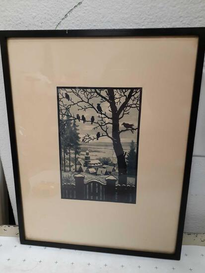 Antique Framed Print - con 672