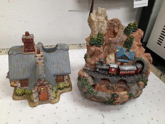 Table Top Musical Fountain with Box, Kinkade Candle Cottage - Will not be shipped - con 808
