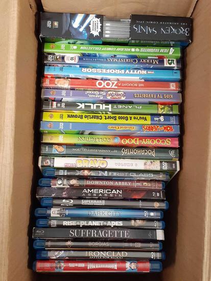 12 Kids DVDs - 10 Blu-rays - con 598