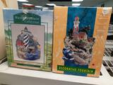 Two Assorted LightHouse Water Fountains with Boxes - Will not be shipped - con 808
