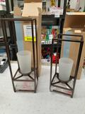 2PC Partylite Framework Pillar Holder - Will not be shipped - con 476