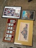 Collection of Framed Collectibles - Will not be shipped - con 346