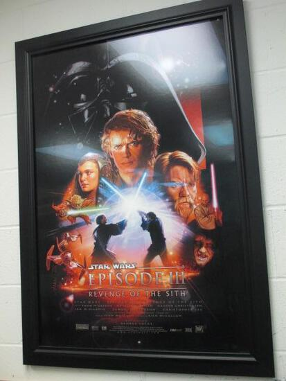 """Vintage Star Wars Episode III Return of the Sith Movie Poster Framed 44""""x32""""-Will NOT be Shipped-694"""