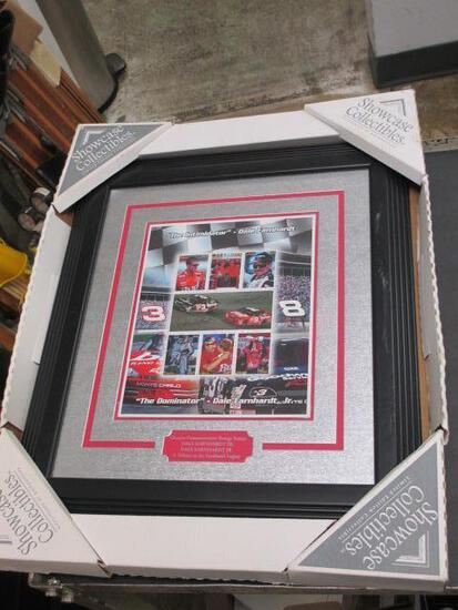 """Dale Earnhart Sr & Jr Collectable Framed 16""""x18"""" Stamp Picture - Will NOT be Shipped - con 653"""