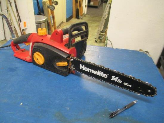 """Homelite Electric 14"""" Chain Saw - will not ship - con 555"""