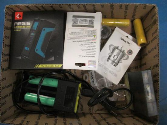 Vape Lot - 8 Batteries, Charger, Aegis, Mod New, Tanks, 2 Boxes of Coils. - con 302