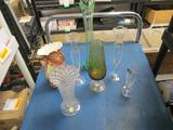 Vintage Vases - Hull, Depression, Cork, Lead Crystal - will not sh ip -con 827