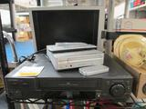 TV, DVD Player VCR Player with Remotes - Tested -- will not ship - con 244