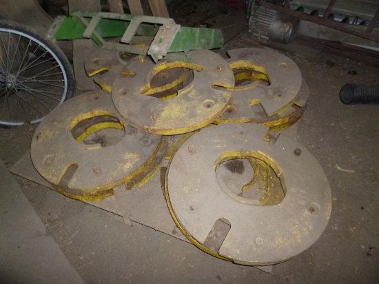 (4) John Deere Rear Wheel Weights