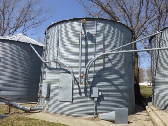 Air System Pipe on Bins