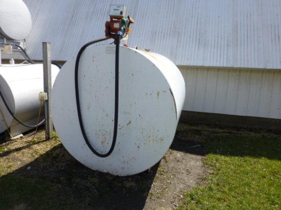 1,000 gal. Diesel Barrel