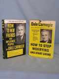 Set of Books Dale Carnegie How to Win Friends & How to Stop Worrying