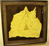 Leather hide signed by various noted artists
