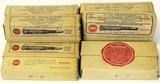 Collection of 6 boxes of antique ammo