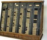 Antique National Cash Register Co. receipt cabinet