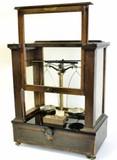 Antique mahogany balance beam scales