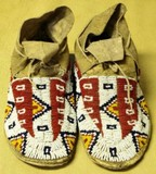 Early pair of Plains moccasins