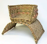Late19th C. Iroquois child's woven basket saddle