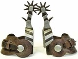 One pair Buermann marked spurs