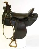 Salesman sample size saddle, circa late 19th
