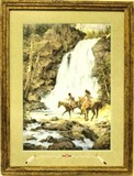 Large pencil signed lithograph by Howard Terpning,