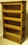 C. 1900's four stack barristers bookcase