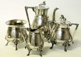 Early 4 piece silver plate tea service