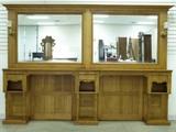 Circa 1890-1910 Golden Oak two station barber shop