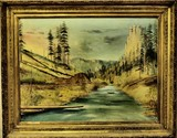 Original C. 1890's oil on canvas by Treseder