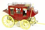 Superb scale model Abbott & Downing stagecoach