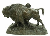 Late 19th early 20th century American bison bronze
