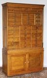 Oak file cabinet tambour roll up door