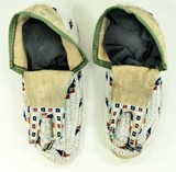 C. 1890-1910's Sioux Indian beaded moccasins