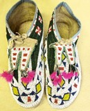 Late 19th C. fully beaded Plains Indian moccasins