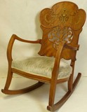 Late 19th C. rocking chair from Seth Bullocks home