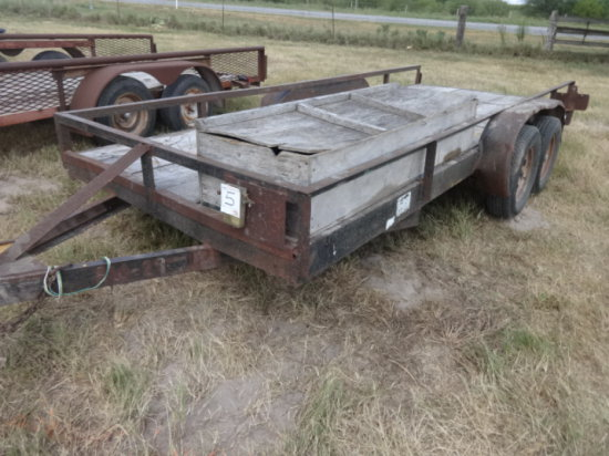 16'BUMPER PULL TRAILER TANDEM AXLE,BILL OF SALE ONLY !!!! VIN/SN:AW-20