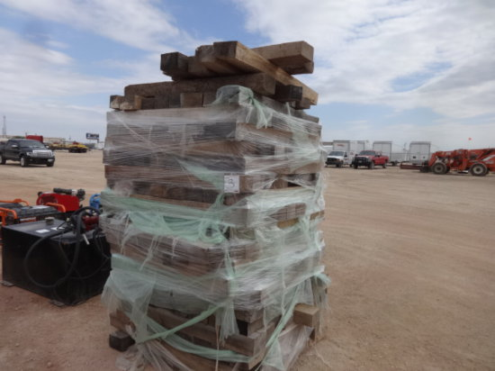 OAK CRIBBING STACK,APPROX 150 PIECES