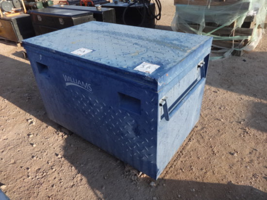WILLIAMS 36'' JOB BOX FULL OF ASSORTED SIZES OF SLINGS