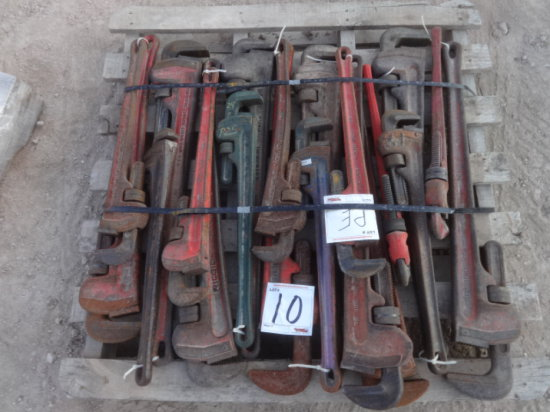 10 SETS OF RIGID PIPE WRENCHES 24''-36''