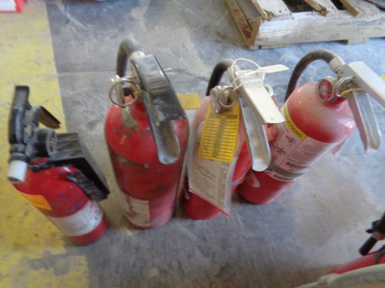 (4) Small Fire Extinguishers